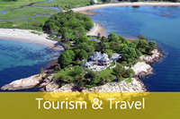 Aerial photography video filming tourism travel holiday homes villas